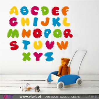 Alfabeto com efeito de brilho!