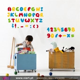 Alfabeto, números e pontuações!