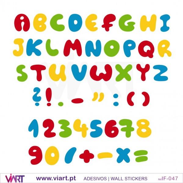 Aparador Estreito Para Sala ~ Viart Alfabeto, números e pontuações! Vinil adesivo para decoraç u00e3o
