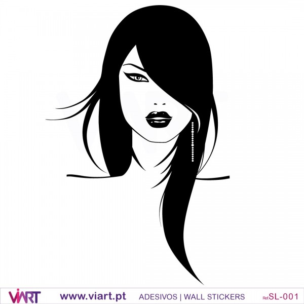 Woman S Face Wall Stickers Wall Art Viart