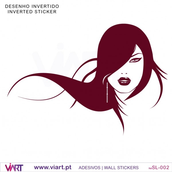 Womans face - Wall stickers - Wall Art - Viart