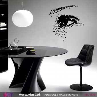 Fabulous dotted eye!! Wall Sticker