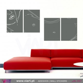Sexy female body! - Wall stickers - Wall Decal - Viart -1