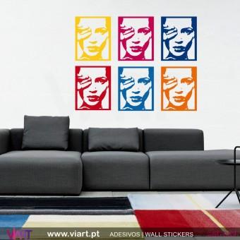 Kate Moss Pop Art!! Vinil Autocolante Decoração Parede Decorativo - Viart -1