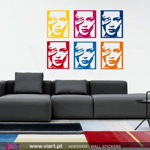 Kate Moss Pop Art style - Wall stickers - Wall Art - Viart