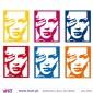 Kate Moss Pop Art! - Wall stickers - Wall Decal - Viart -2