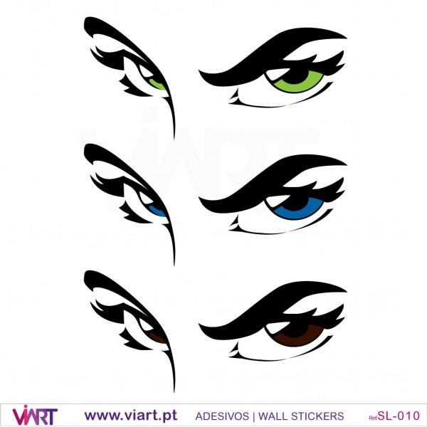 eyes… - wall stickers - wall art - viart
