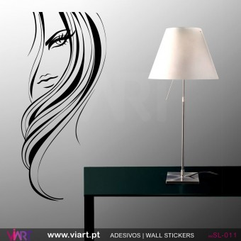 Woman's profile - Wall stickers - Wall Decal - Viart -1
