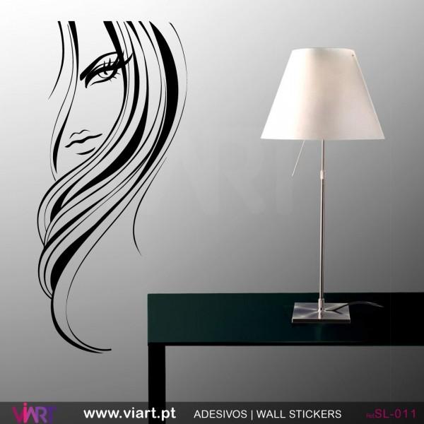 High Quality Woman Face Decal Girls Beauty Salon Wall