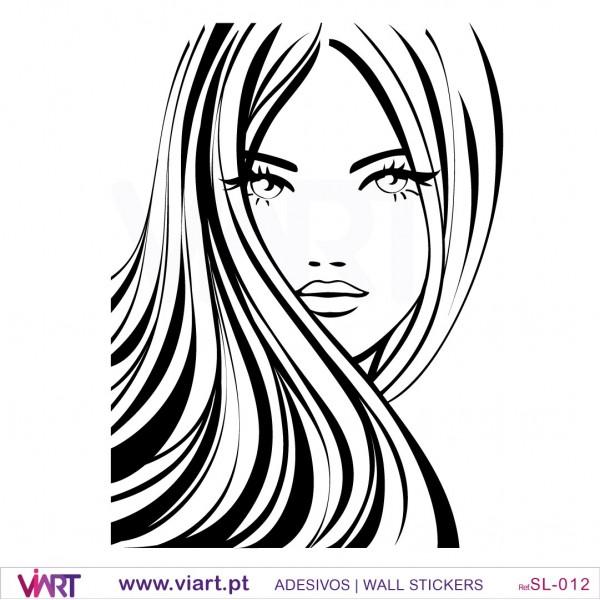 Vinyl Wall Decal Art Beautiful Woman Fashion Girl Face