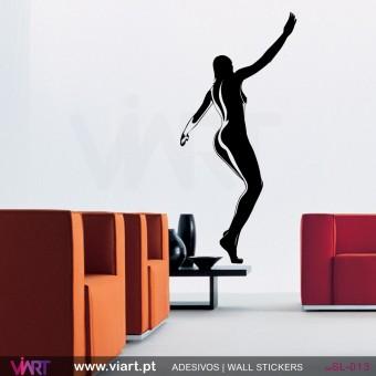 Silhueta sensual - 1 - Vinil Autocolante Decoração Parede Decorativo - Viart -1