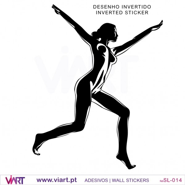 Sexy Silhouette 2 Wall Stickers Wall Art Viart