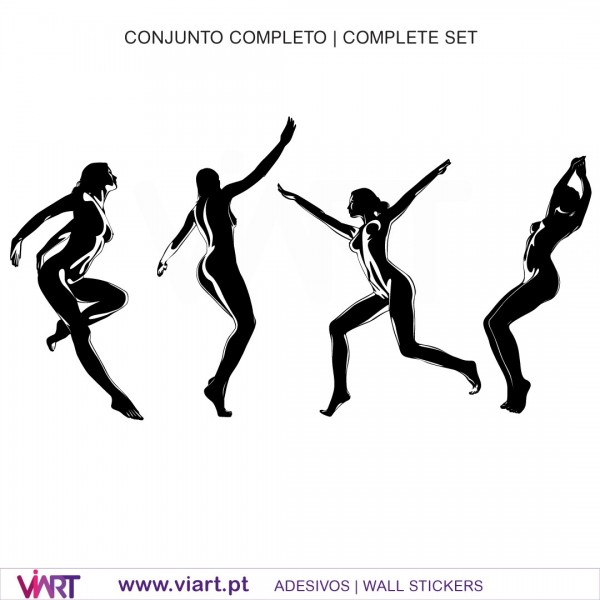 sexy silhouette - 3 - wall stickers - wall art