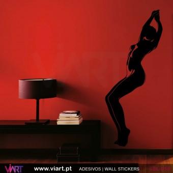 Silhueta sensual - 4 - Vinil Autocolante Decoração Parede Decorativo - Viart -1