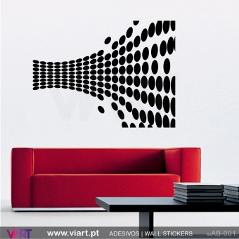 Abstract optical illusion! Wall Sticker!