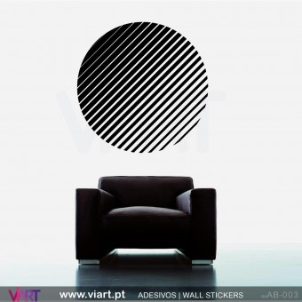 Striped circle! Wall Sticker