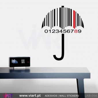 Striped Umbrella with date! - Wall stickers - Wall Decal - Viart -1