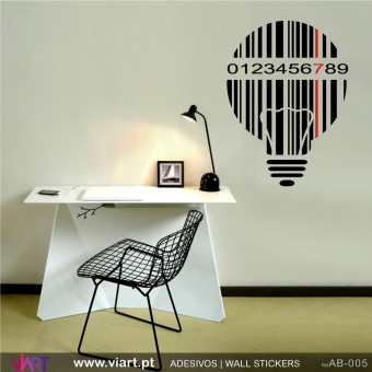 Striped lamp with date! Wall Sticker!