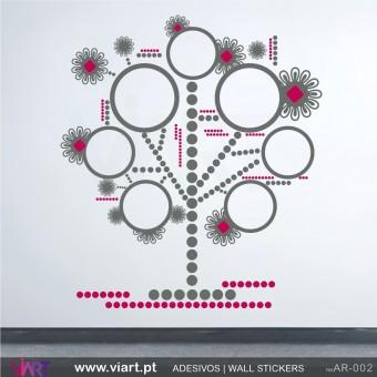 """Árvore """"Diagrama"""" - Vinil Autocolante Decoração Parede Decorativo - Viart -1"""