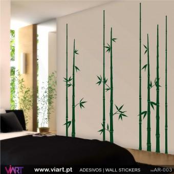 Conjunto 8 Bambús - Vinil Autocolante Decoração Parede Decorativo - Viart -1