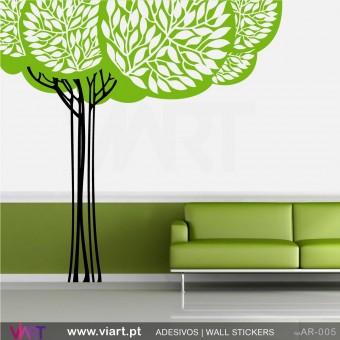 Árvore estilizada - Vinil Autocolante Decoração Parede Decorativo - Viart -1