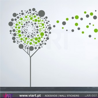 Windy tree - Wall stickers - Wall Decal - Viart -1