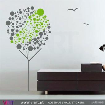 """Árvore """"bolinhas"""" - Vinil Autocolante Decoração Parede Decorativo - Viart -1"""