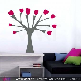 """Árvore """"Flores""""! - Vinil Autocolante Decoração Parede Decorativo - Viart -1"""