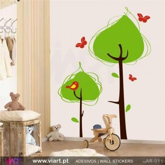 Floresta encantada! - Vinil Autocolante Decoração Parede Decorativo - Viart -1