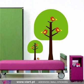 "2 ""semi-circle"" trees - Wall stickers - Wall Decal - Viart -1"