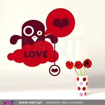 LOVE! Desenho amoroso! - Vinil Autocolante Decorativo! Decoração Parede - Viart -1