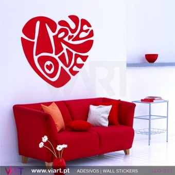 TRUE LOVE heart! Wall sticker!