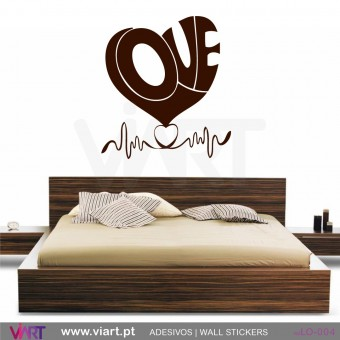 LOVE! Heart beat! - Wall stickers - Wall Decal - Viart -1