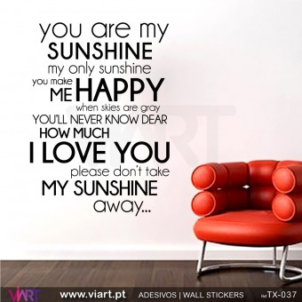 You are my SUNSHINE... - Wall stickers - Wall Decal - Viart -1