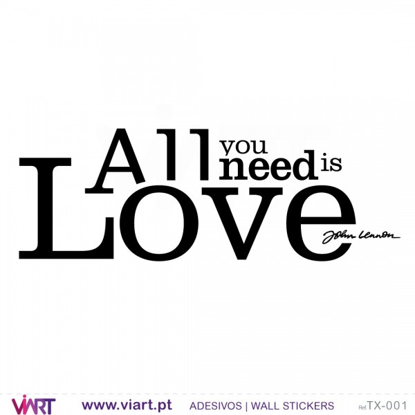 All You Need Is Love Wall Stickers Vinyl Decoration