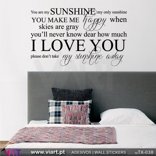 You are my SUNSHINE... 2 - Wall stickers - Wall Decal - Viart ...