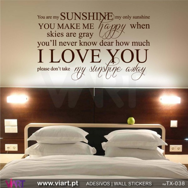 ... You are my SUNSHINE... 2 - Wall stickers - Wall Decal - Viart ...