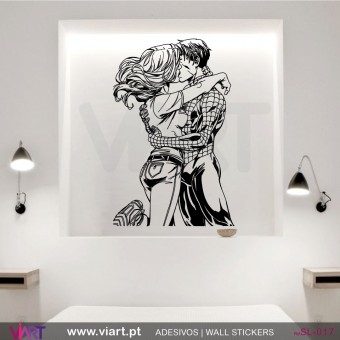 SPIDER KISS! Spider-Man! - Wall stickers - Wall Decal - Viart -1