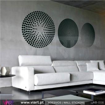3 círculos! - Vinil Autocolante Decoração Parede Decorativo - Viart -1