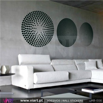 Set of 3 dotted circles! - Wall stickers - Wall Decal - Viart -1