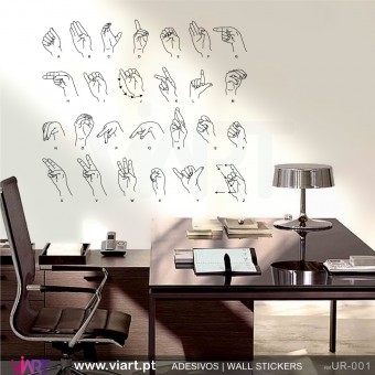 Sign language - Wall stickers - Wall Decal - Viart -1