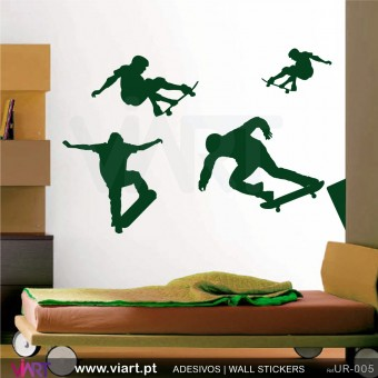 Skateboard World!! - Wall stickers - Wall Decal - Viart -1