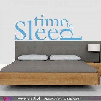 Time to Sleep - Vinil Autocolante Decorativo