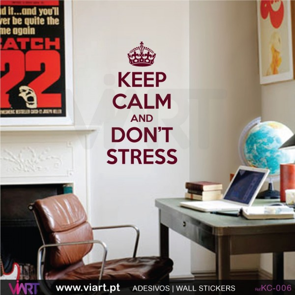 Keep calm and dont stress wall stickers wall decal viart