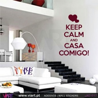 KEEP CALM AND CASA COMIGO! - Wall stickers - Wall Decal - Viart -1