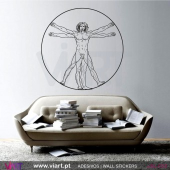 Vitruvian Man by Leonardo da Vinci - Wall Sticker