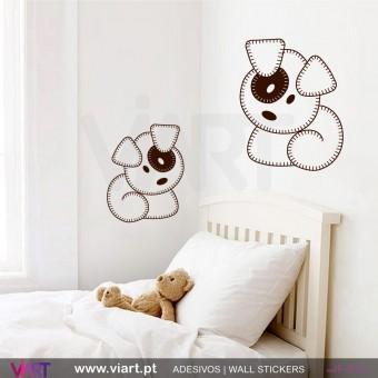 Conjunto de 2 Ursinhos! Vinil Autocolante Decorativo! Decoração quarto menina - Infantil - Viart -1