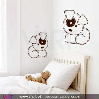 Set of 2 Teddy Bears! Wall stickers - Baby room decoration - Viart -1
