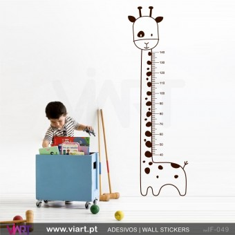 "Growth Ruler ""Giraffe"". Wall stickers - Baby room decoration - Viart -1"