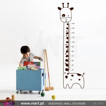 """Régua de crescimento """"Girafa"""". Vinil Autocolante Decorativo! Decoração quarto menina - Infantil - Viart -1"""